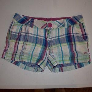 O'Neill Plaid Shorts Sz S